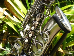 Alto Sax in gun metal finish