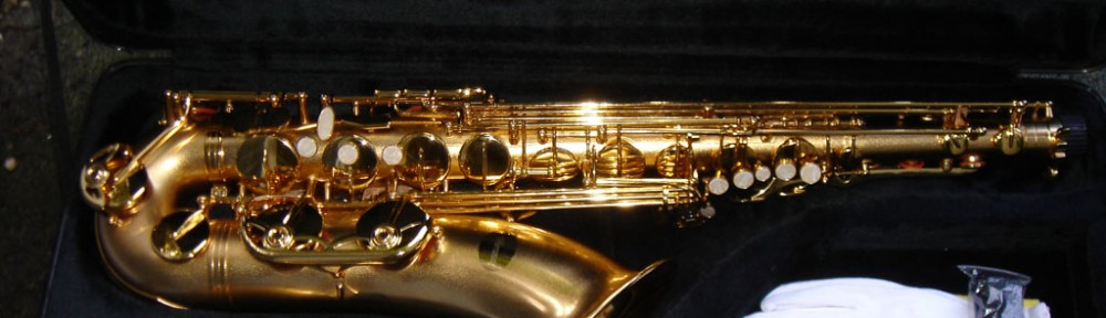 Tenor saxophone sandblasted finish